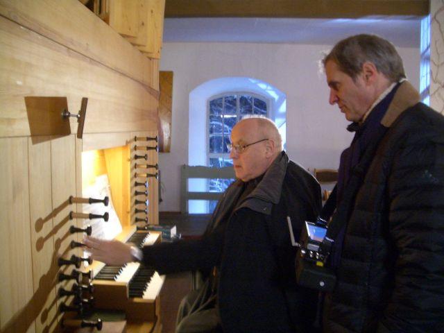 An der Orgel